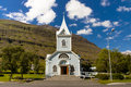 Free Wooden Church In Seydisfjordur Iceland Stock Photography - 19729852