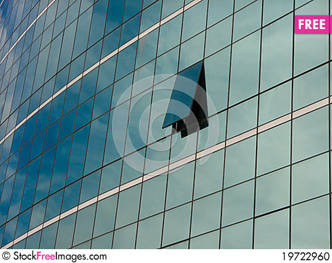 Free Modern Blue Glass Wall Of Skyscraper Stock Photo - 19722960