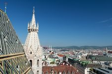 Free Vienna Panoramic View From St.Stephans Cathedral Stock Image - 19720591