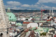 Free Vienna Panoramic View From St.Stephans Cathedral Royalty Free Stock Image - 19720616