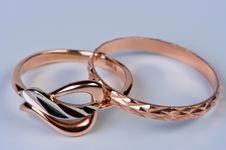 Free Two Gold Rings Close Up. Royalty Free Stock Photo - 19720815