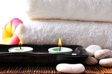 Free Two Candles Royalty Free Stock Photo - 19721085