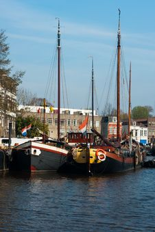 Free Old Ships In Gouda, Netherlands Stock Image - 19721101