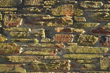 Background Texture Of Sunset Lit Stone Wall Royalty Free Stock Photos