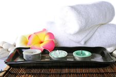 Free Three Candles In Ceramic Bowl Royalty Free Stock Photo - 19722135