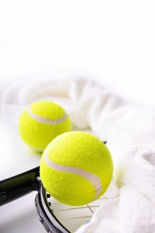 Free Two Tennis Balls Royalty Free Stock Image - 19722436