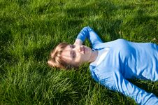 Free On The Grass Stock Photo - 19722450