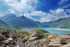 MontCenis Lake - France Royalty Free Stock Images
