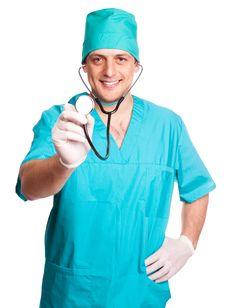 Free Portrait Of A Surgeon Stock Image - 19722611