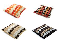 Free Four Cushions With Texture Royalty Free Stock Photography - 19723457