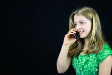 Free Young Girl Using A Cell Phone Stock Images - 19723794