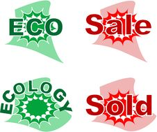 Set Of Sale And Ecology Badge Stock Photos
