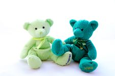 Free Two Teddy Bears Stock Photo - 19724340