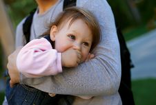 Free Father Holding His  Baby Girl Stock Image - 19724971