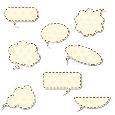 Free Vintage Speech Bubbles Royalty Free Stock Photo - 19725005