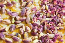 Pistachio & Rose Petal Brittle Stock Photo