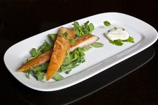 Free Smoked Mackerel & Pea Shoots Royalty Free Stock Images - 19725599