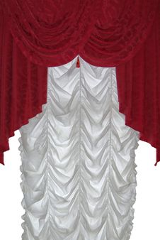 Free Red Curtain On White Stock Photo - 19725940