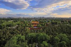 Free Beijing City Central Axis Skyline Sunrise Royalty Free Stock Photos - 19726348