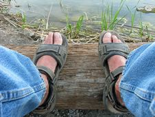 Free Levis & Sandals Royalty Free Stock Photo - 19726575