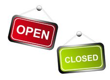 Free Open And Closed Signs Royalty Free Stock Image - 19727196