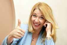 Free Businesswoman Showing Ok Sign Stock Photo - 19727210