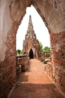 Free Ancient Passage Way And Chedi , Thailand. Stock Photography - 19727322