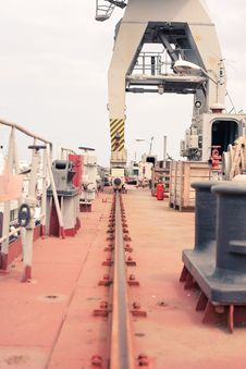 Crane In The Dry Dock Stock Image
