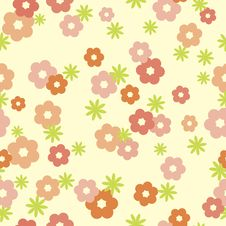Free Tender Floral Seamless Background Royalty Free Stock Photography - 19728367