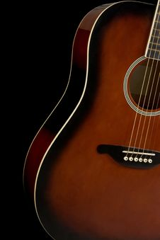 Free Guitar On Black Background Royalty Free Stock Images - 19728619