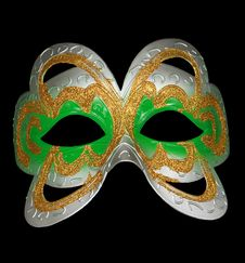 Free Carnival Mask Isolated On Black Royalty Free Stock Photo - 19728625