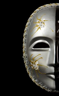 Free Carnival Mask Isolated On Black Stock Photo - 19728660
