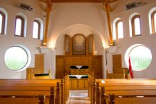 Free Reformed Church Indoor Heviz, Hungary Royalty Free Stock Photos - 19729258