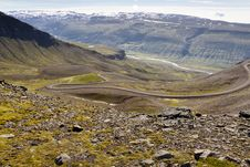 Mountain Part Of 917 Route - Iceland. Stock Image