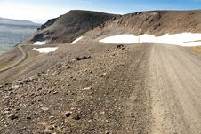 Gravel Mountain Route - 917. Iceland Stock Images