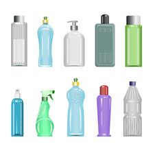 Free Plastic Bottles Set 5 Stock Photos - 19729793