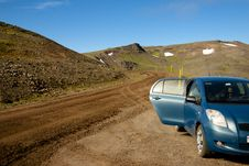 917 Route. North Parth Of Iceland. Stock Photos