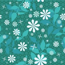Free Green Floral Pattern Royalty Free Stock Image - 19729916