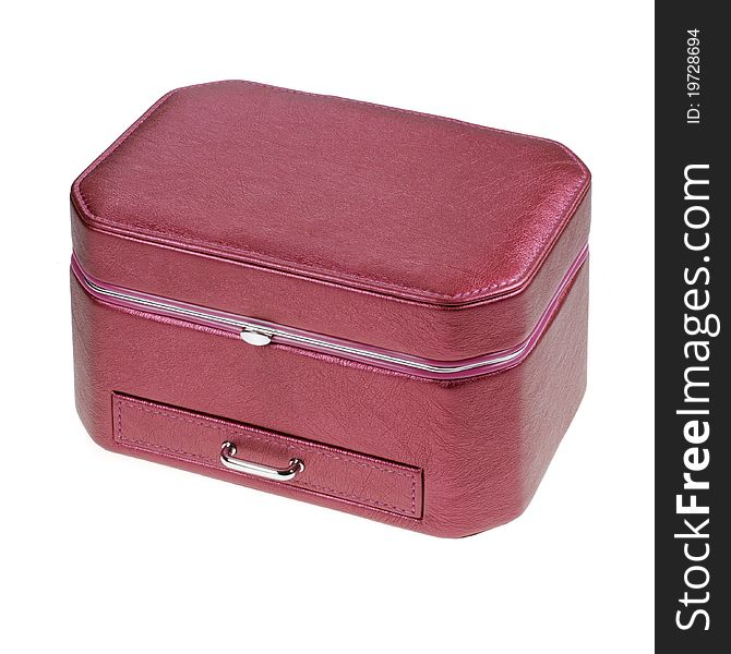 Pink box for jewelery and trinkets