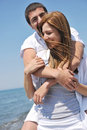 Free Happy Young Couple Have Fun On Beach Royalty Free Stock Photos - 19730518
