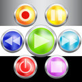 Free Video Buttons Collection For Your Design Stock Image - 19731931