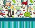 Free Cartoon Golf Card Stock Photography - 19739722