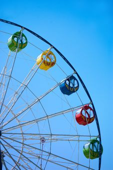 Free Ferris Wheel On Blue Sky Stock Image - 19730021