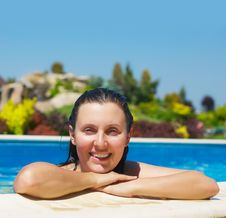 Free Woman In Pool Royalty Free Stock Image - 19730076