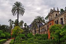 Free The Wonderful Gardens Of The Alcazar In Seville Royalty Free Stock Photography - 19730497