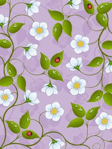 Free Decorative Floral Background Royalty Free Stock Photography - 19730817