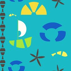 Free Vector Sea Objects Seamless Pattern Stock Photography - 19731082