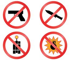 Free Prohibiting Signs. Royalty Free Stock Photo - 19731245