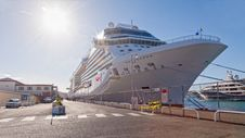 Cruise Ship Anchored In Port Royalty Free Stock Photography