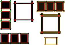 Free Black Oriental Frames Stock Image - 19731921